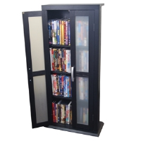 Walker Edison TDT41BL Media Storage Tower - More Info