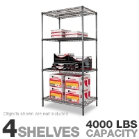 Alera SW503624BA Wire Shelving Starter Kit - More Info