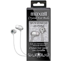 CRYSTAL EARBUDS WHITE - More Info