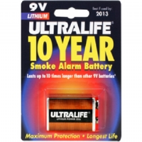 ULTRALIFE 9V LITH 10 YR SMOKE - More Info