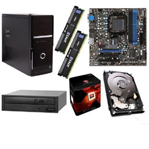 MSI 760GM-E51(FX) AMD 760 Socket AM3+ Motherboard and AMD FX-8120 3.10 GHz Eight Core AM3+ Unlocked CPU and Sony Optiarc AD7280S-OB 24x DVDRW Drive and Corsair CMX4GX3M1A1333C9 XMS3 4GB DDR3 RA Bundle