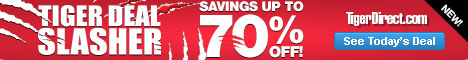 Tiger Deal Slasher! Savings up to 70% OFF!