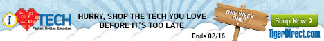 I love TECH Faster. Better. Smarter. only at TigerDirect