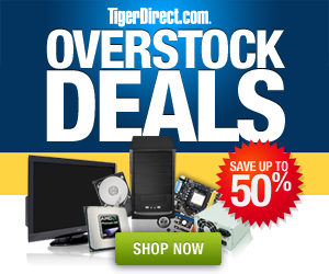 Overstock deals save up to 50% at TigerDirect