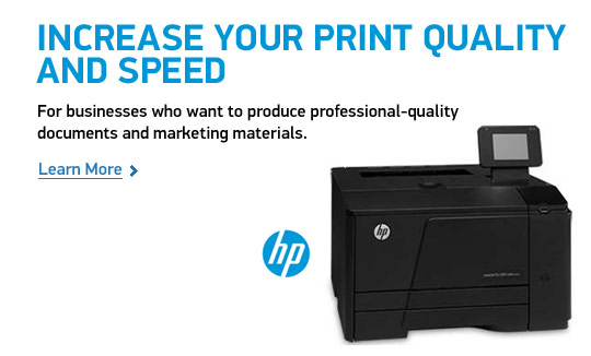 Increase Your Print Quality and Speed. For Businesses who want to produce professional-quality documents and marketing materials