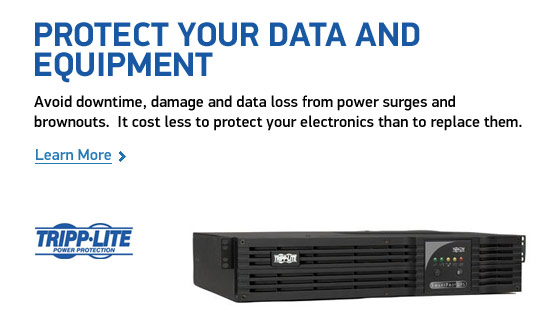 Protect your data and equipment. Avoid downtime, damage and data loss from power surges and brownouts. It cost less to protect your electronics than to replace them.