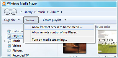 Play media on your home audio system