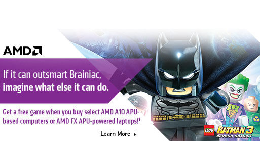 Get a Free game with AMD - Lego batman