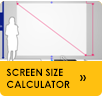 Click to calculate projector screen size