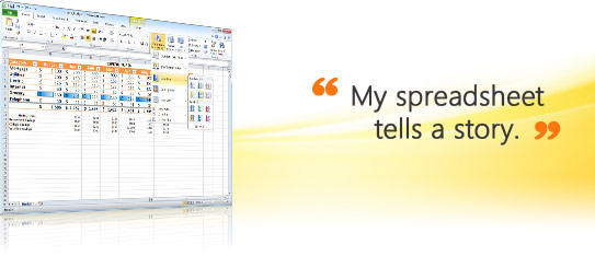 Microsoft Office Excel 2010 - sample screen
