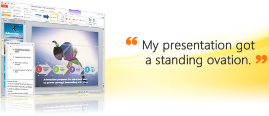 Microsoft Office Powerpoint 2010 - sample screen