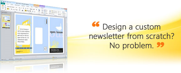 Microsoft Office Publisher 2010 - sample screen