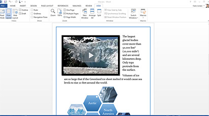 Add pictures, videos, or online media to your documents with a simple drag and drop.