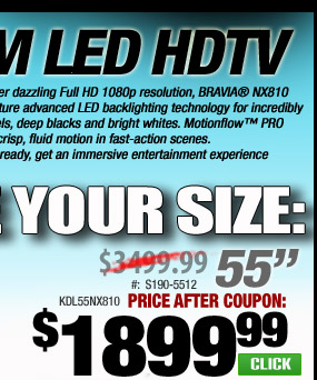 Save $1000 OFF Sony 3D TV