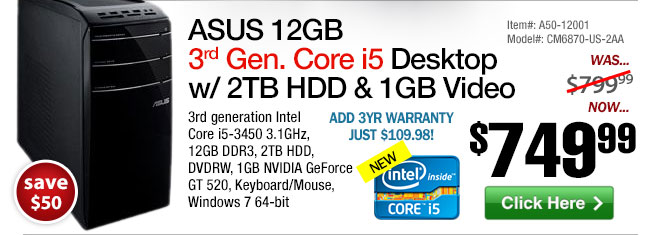 ASUS 12GB Core i5 Desktop