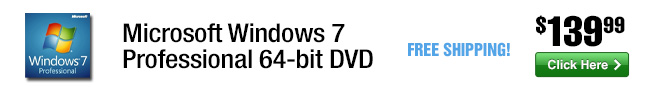 Microsoft Windows 7 Professional 64-bit  DVD