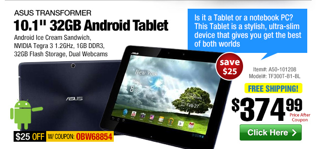 ASUS 10.1-inch 32GB Android 4.0 Tablet