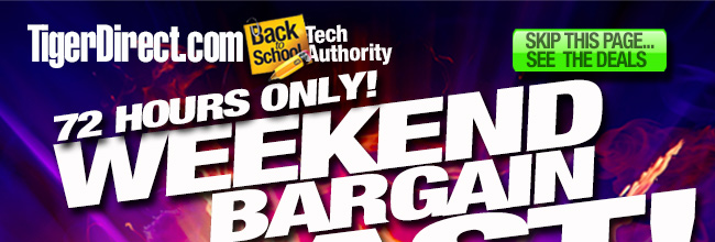 72 Hours Only! Weekend Bargain Blast!