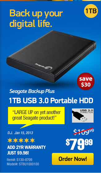 Seagate Backup Plus 1TB Portable Drive