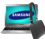 Samsung 16GB WiFi Chromebook &  Laptop Case Bundle