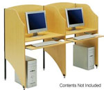 Add-On Computer Desk Privacy Booth
