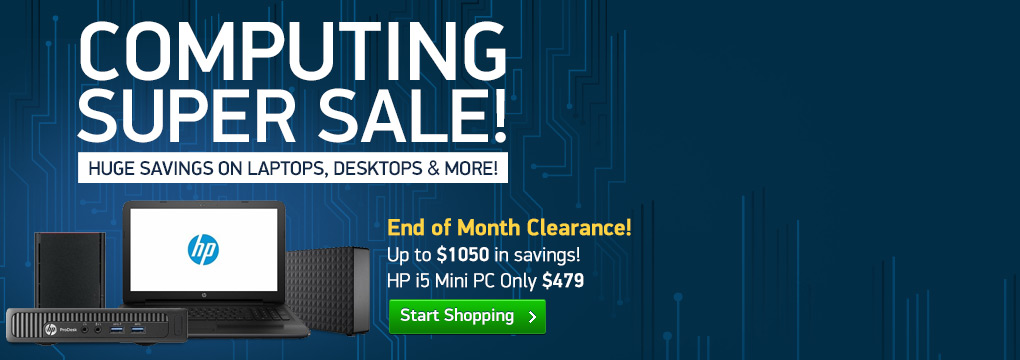End of Month Clearance! HP i5 Mini PC $479 | Samsung Chromebook $169