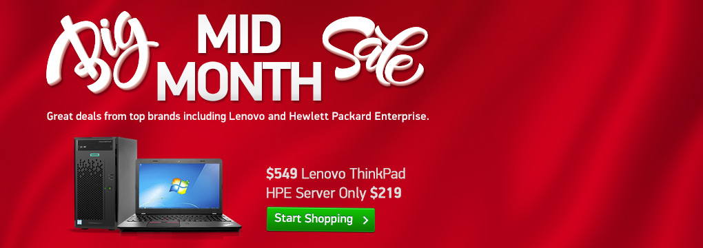 Midmonth Super Sale! Lenovo i3 PC $429 | Lenovo i5 Touch Laptop $479