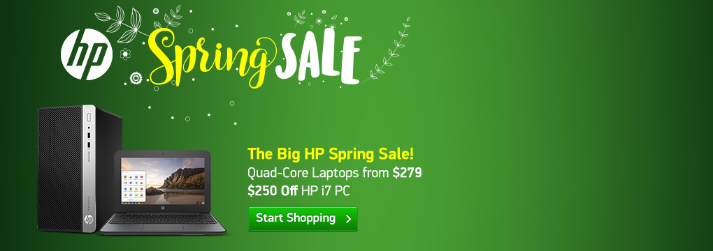 The Big HP Spring Sale! Quad-Core Laptops from $279 | $250 Off HP i7 PC