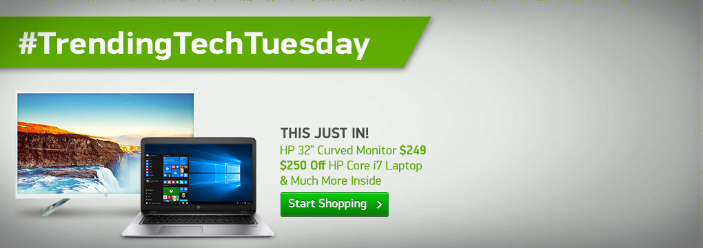 This Just In! HP 32� Curved Monitor $249 | $250 Off HP Core i7 Laptop