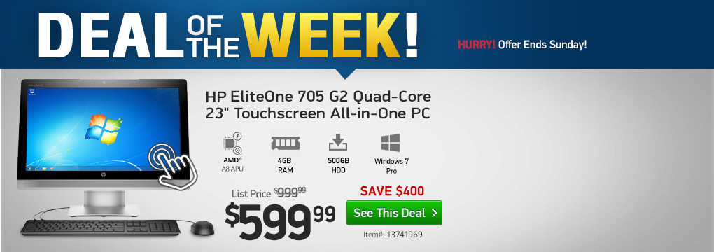 "New This Week! $400 Off HP Quad-Core 23"" All-in-One PC 