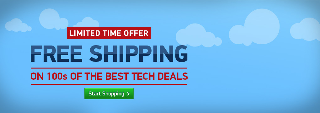 FREE SHIPPING - on 100s of the best tech deals