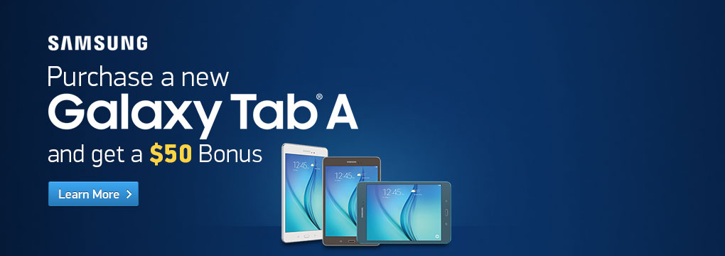 Samsung: Purchase a new Galaxy Tab A and get a $50 Bonus