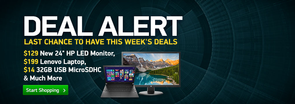 $129 New 24inch HP LED Monitor, $199 Lenovo Laptop, $14 32GB USB Micro SDHC and Much More!