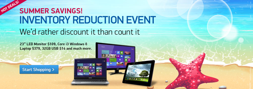 "Inventory Reduction: 46"" HDTV $379, Core i3 Notebook $379 and much more..."