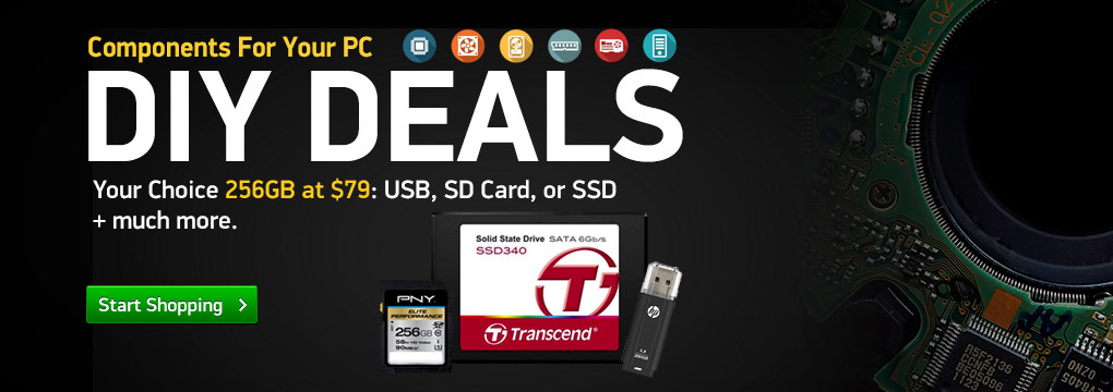 Your Choice 256GB at $79: USB, SD Card, or SSD + much more.