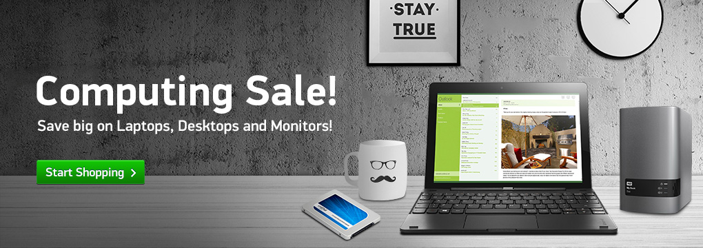 Computing Sale! Save Over $100 on Select Laptops and Desktops