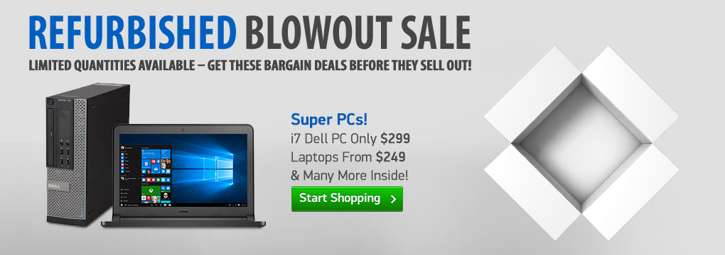 Super PCs! i7 Dell PC Only $299 | Laptops From $249!