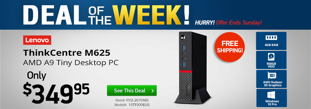 Deal of the Week! Lenovo ThinkCentre Tiny Desktop Only $349 + Free Shipping