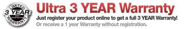 Ultra 3 Year Warranty