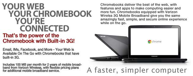 Google Chromebook with 3G