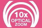 10x Optical Zoom