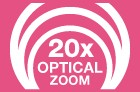 20x Optical Zoom