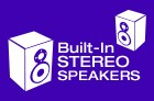 Built-In Stereo Speakers