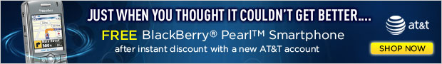 FREE BlackBerry Pearl Smartphone from AT&T