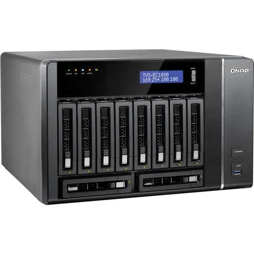 Alternate view 2 for QNAP 10 Bay NAS - TVS-EC1080-I3-8G-US