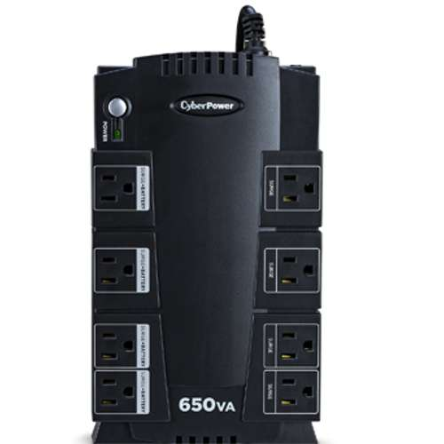 Alternate view 2 for CyberPower 650V/375W PC Battery Backup - SX650G