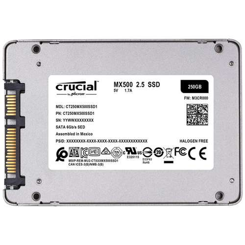 Alternate view 4 for Crucial MX500 250GB SATA 6GB/S Internal SSD