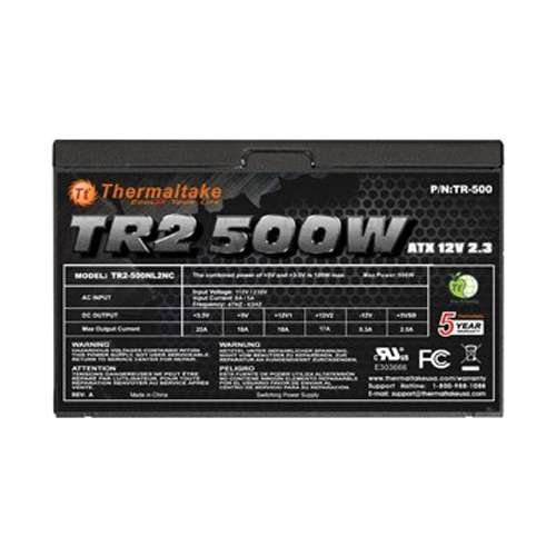Alternate view 4 for Thermaltake TR2 500W ATX Power Supply
