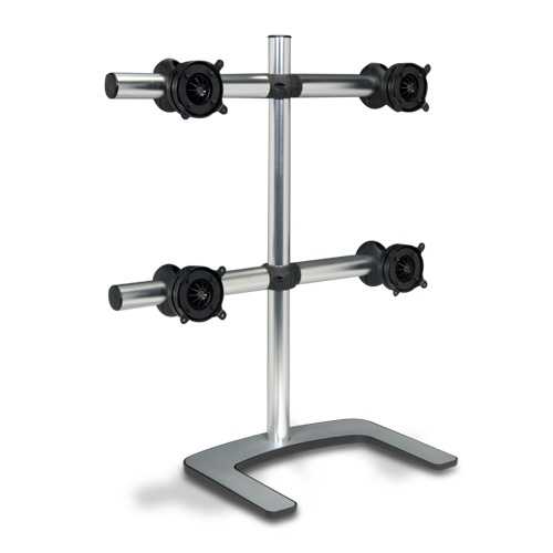 Alternate view 2 for Atdec V-FS-Q VISIDEC Freestanding Quad Mount