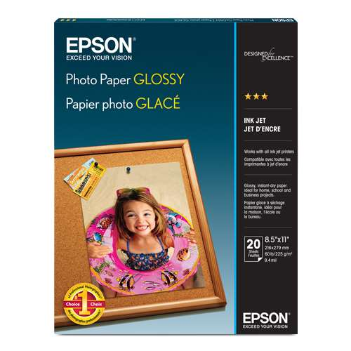 "Alternate view 3 for Epson Glossy Photo Paper 8.5""x11"" 20pk"